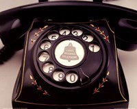 Telephone With Red Flowers Fine Art Print