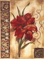 Illuminated Lily I Framed Print