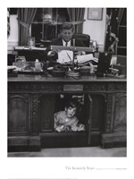 Jfk And John Jr, 1963 Framed Print