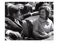 Jfk And Jacqueline, 1961 Framed Print