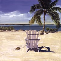 "Beach Chair by Libby Chase - 24"" x 24"""
