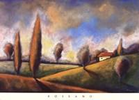 Tuscan Shadows II Fine Art Print
