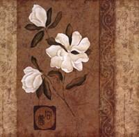 """Magnolia Stripe I by Gene Ouimette - 24"""" x 24"""""""