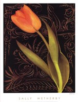 Tulip Manuscript II Fine Art Print
