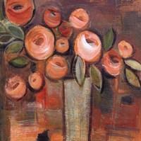 "Golden Floral II by Linda Davey - 18"" x 18"", FulcrumGallery.com brand"