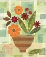 Yellow Flower Vase Framed Print