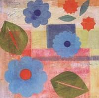 Blue Pattern Flower Fine Art Print