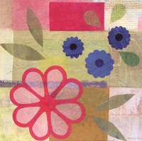 "Pink Pattern Flower by Gale Kaseguma - 12"" x 12"" - $9.99"