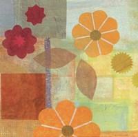 Yellow Pattern Flower Fine Art Print