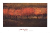 "Red Trees I by Simon Winegar - 27"" x 18"""