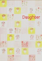 Mother's Day - Daughter Flowers Greeting Card
