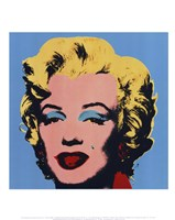 "Marilyn (on blue ground), 1967 by Andy Warhol, 1967 - 11"" x 14"""