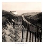"Dune Fence by Christine Triebert - 13"" x 14"""