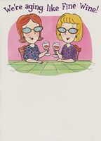Birthday Funny Wine for Her Greeting Card
