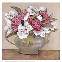 Floral Teapot II Fine Art Print