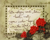 Hope In The Lord Fine Art Print