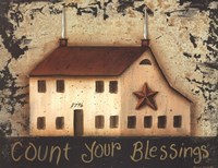Count Your Saltbox Blessings Framed Print