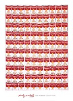 "One Hundred Cans, 1962 by Andy Warhol, 1962 - 26"" x 36"""