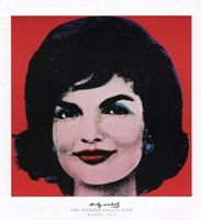 Jackie, 1964 (Red Background) Fine Art Print