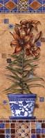 """Flower In Greece II by Charlene Audrey - 12"""" x 36"""""""