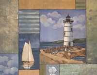 Lighthouse Collage II Framed Print