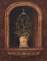 Olive Topiary Niches I Fine Art Print