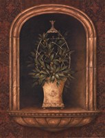Olive Topiary Niches I - Mini Framed Print
