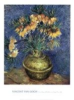 Crown Imperial Fritillaries in a Copper Vase, 1886 Fine Art Print