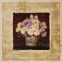 "Vintage Rose Yellow by Pamela Gladding - 20"" x 20"""