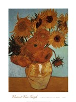 Sunflowers on Blue, c.1888 Fine Art Print