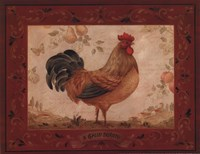 Gallo Dorato - Mini Framed Print
