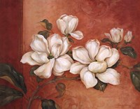 "Magnolias by Pamela Gladding - 28"" x 22"""