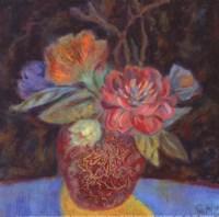 """Gold Shadow - Petite by Carolyn Holman - 5"""" x 5"""""""