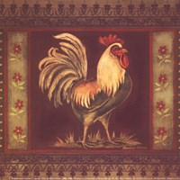 """Mediterranean Rooster II - Square by Kimberly Poloson - 6"""" x 6"""""""
