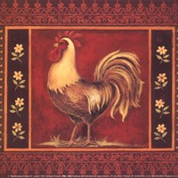 """Mediterranean Rooster IV - Square by Kimberly Poloson - 6"""" x 6"""""""