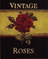 """Vintage Roses - Mini by Kimberly Poloson - 8"""" x 10"""""""
