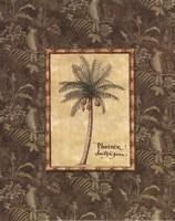 Vintage Palm II - Mini Fine Art Print