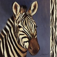 Exotic Zebra - Mini Framed Print