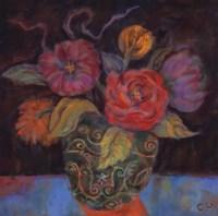 """Orange Shadow - Grande by Carolyn Holman - 20"""" x 20"""""""