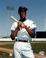 Ernie Banks - Bat on shoulder, posed Fine Art Print