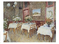 Interior of a Restaurant, c.1888 Fine Art Print