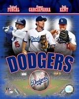 2007 - Dodgers Big 3 Hitters Composite Fine Art Print