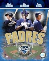 Padres 2007 - Big 3 Hitters Fine Art Print