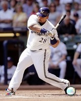Prince Fielder - 2007 Batting Action Fine Art Print