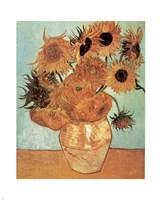 Vase with Twelve Sunflowers, c.1888 Fine Art Print