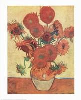 Vase with Fifteen Sunflowers, c.1888 Fine Art Print