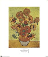 """Vase with Fifteen Sunflowers, 1888 by Vincent Van Gogh, 1888 - 17"""" x 20"""""""