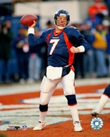 John Elway - Passing Action Fine Art Print