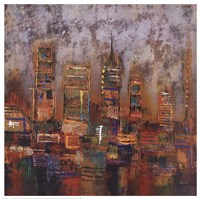 "27"" x 27"" City Paintings"