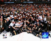 2007 - Ducks Stanley Cup Celebration On Ice Fine Art Print